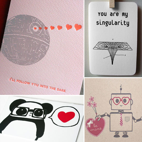 Be sure to supplement that geeky gift with an equally geeky Valentine's Day card.