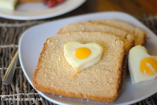 Heart-Shaped Eggs