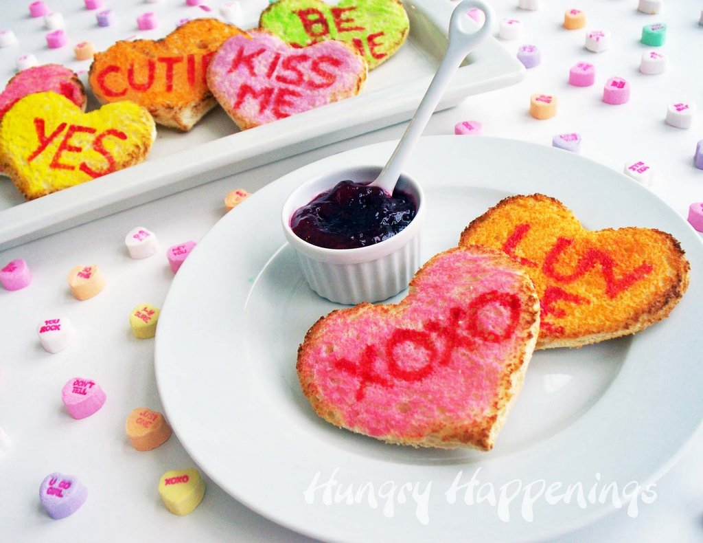 Conversation Heart Toast