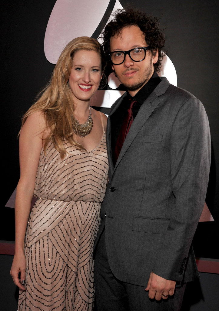 Michael Gungor and his wife Lisa Gungor arrive at the Grammys.