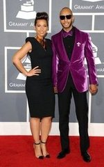 Alicia Keys and Swizz Beatz(2012 Grammy)