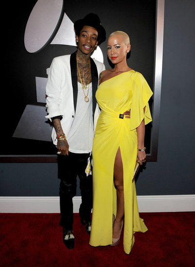 Wiz Khalifa and Amber Rose(2012 Grammy)