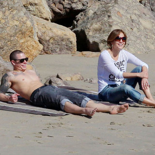 J Lo With Shirtless Casper Smart Beach Max & Emme Pictures