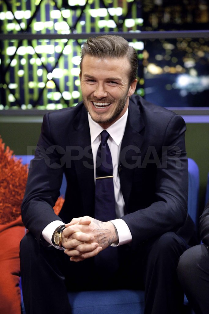 David Beckham in a suit.