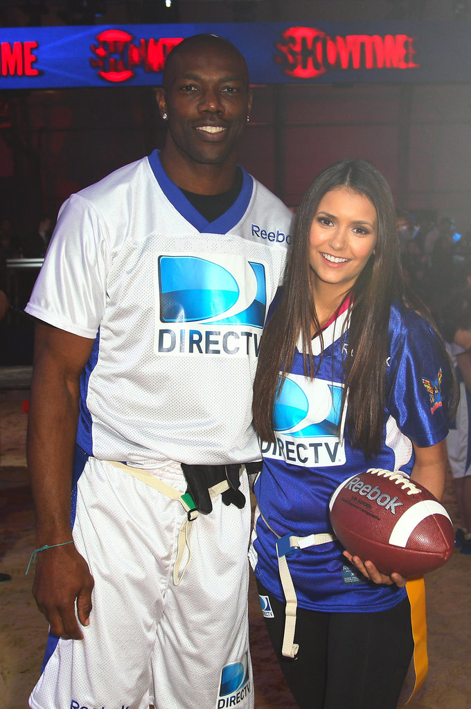 Terrell Owens and Nina Dobrev
