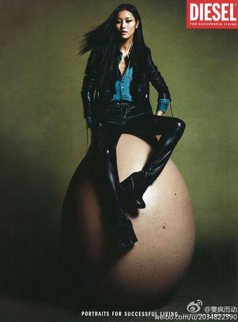 Liu Wen show off her edgy side in Diesel's campaign, shot by Mert & Marcus.