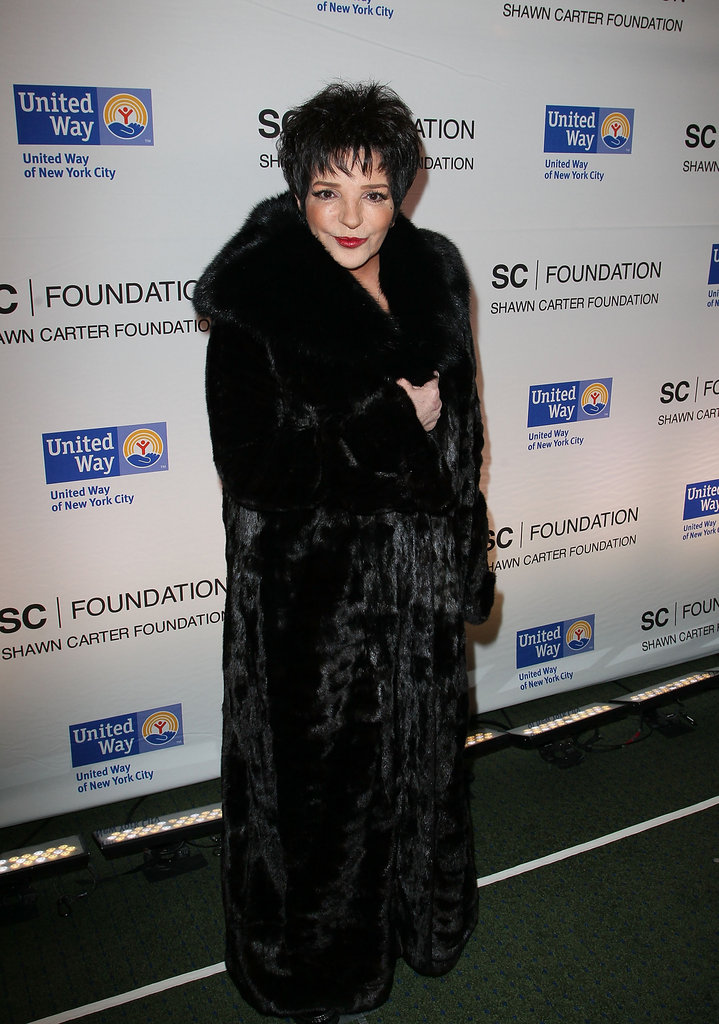 Liza Minnelli at Jay-Z's Carnegie Hall concert.