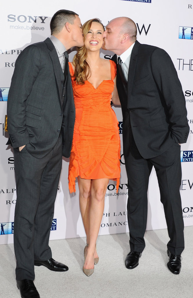 Channing and Michael planted a kiss on Jessica at the premiere of The Vow.