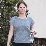 Jennifer Lawrence leaving the gym.