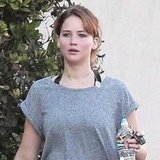 Jennifer Lawrence after the gym.