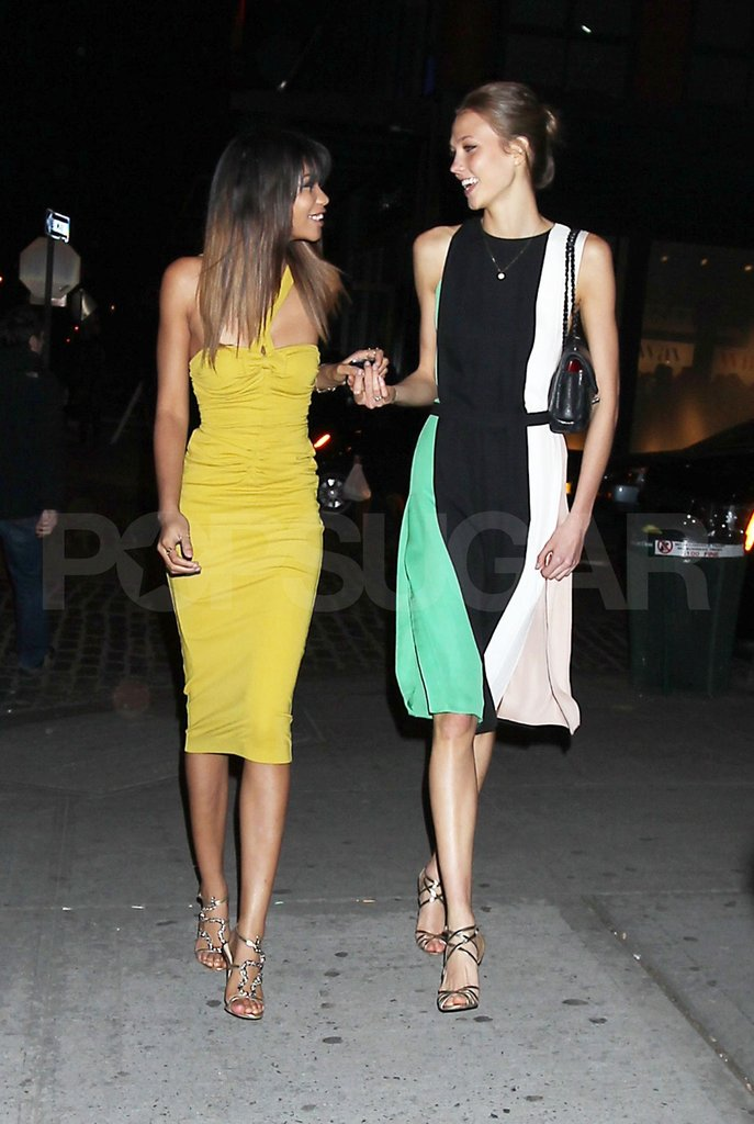 "Chanel Iman and Karlie Kloss attended ""Runway to Win."""
