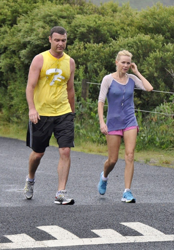 Liev Schreiber and Naomi Watts worked out Down Under.