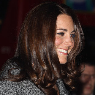 Kate Middleton's Hair Shines Through the Chilly London Temperatures