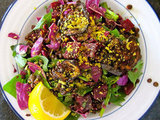 Red Beet and Cabbage Salad with Lentils
