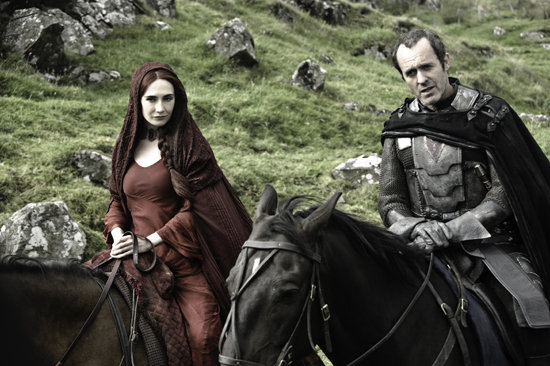 Carice van Houten as Mellisandre and Stephen Dillane as Stannis Baratheon on Game of Thrones.  Photo courtesy of HBO
