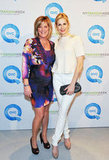 Kelly Rutherford in all white at QVC's runway presentation.