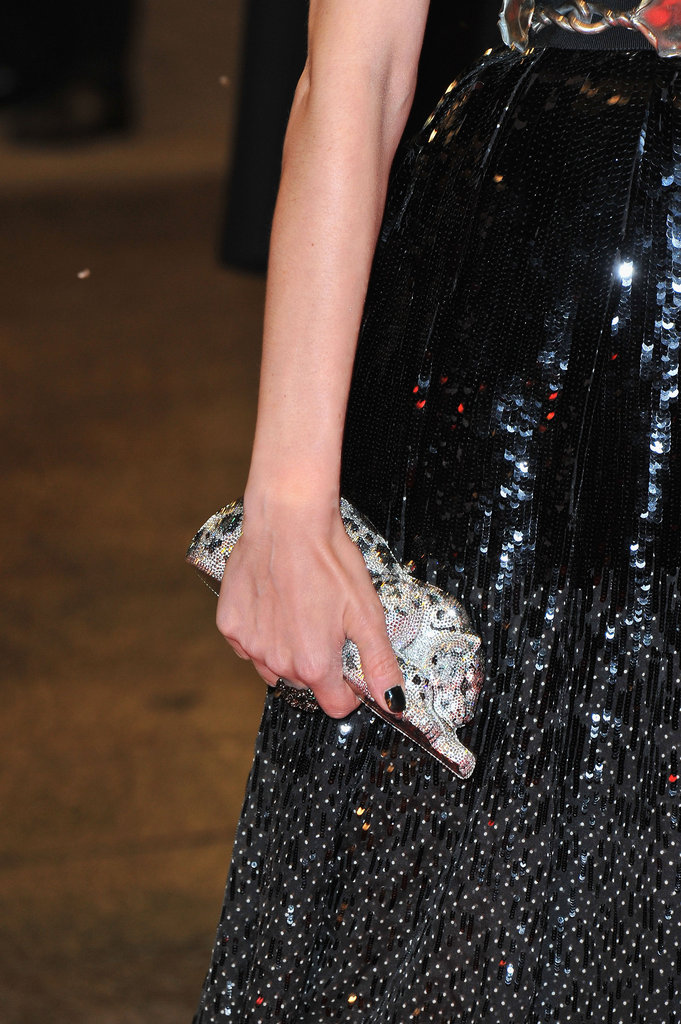 Diane Kruger carried a Judith Leiber clutch.
