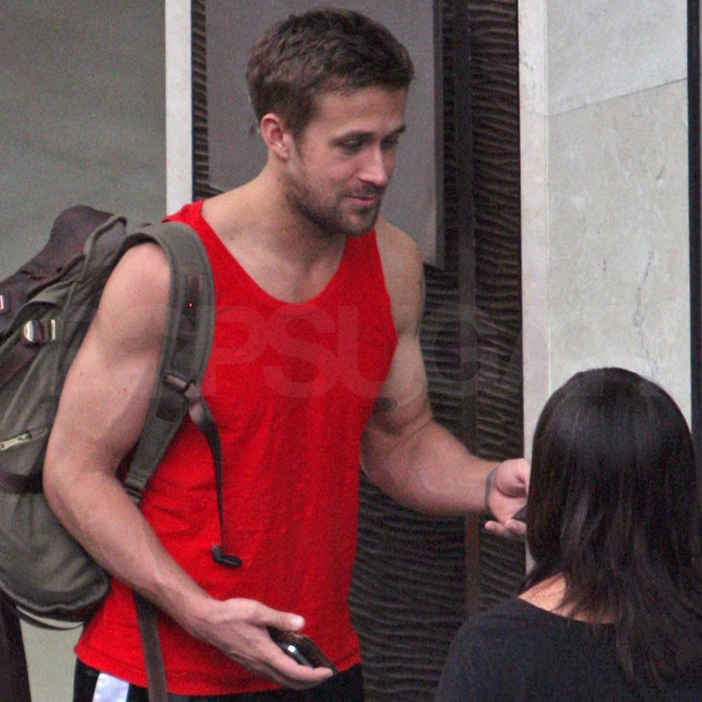Ryan Gosling went to a Thai gym. Images courtesy AKM Images/GSI Media