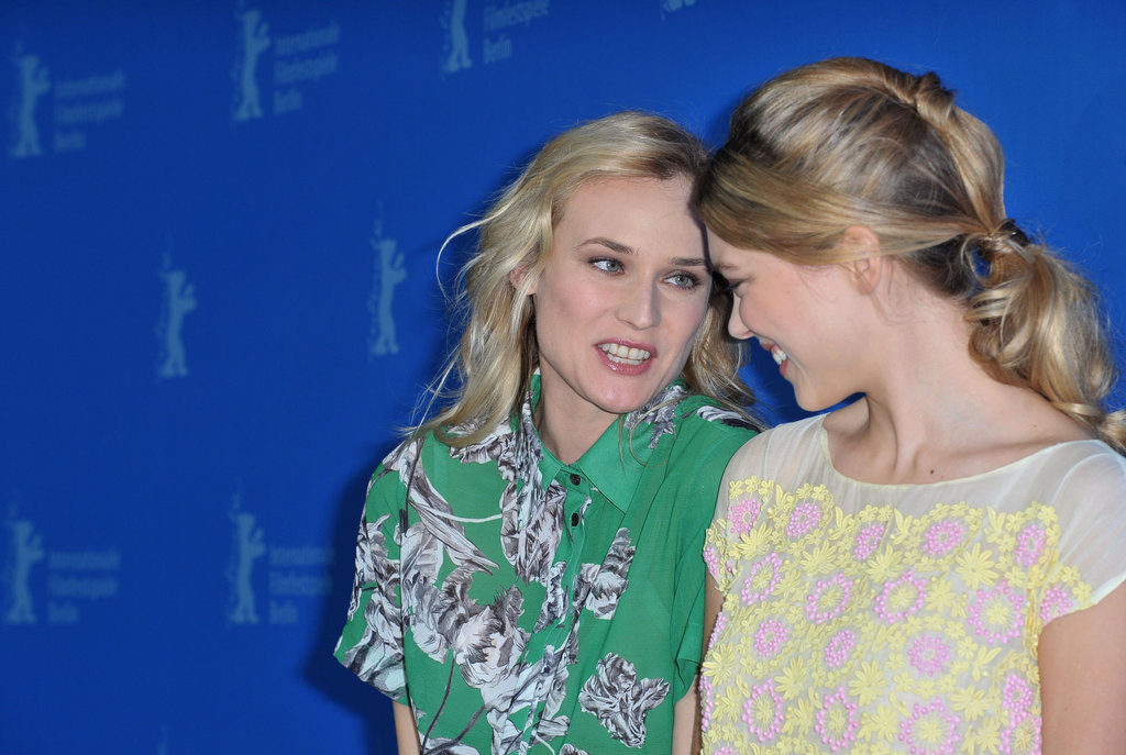 Diane Kruger chatted with her Farewell My Queen costar Lea Seydoux.