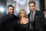 Chris Pine, Tom Hardy, and Reese Witherspoon attended the LA premiere of This Means War.
