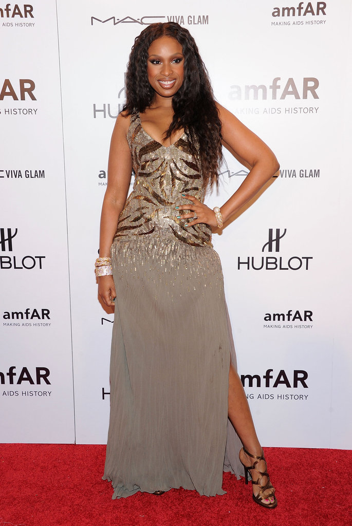 Jennifer Hudson wore Robert Cavalli.