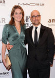 Felicity Blunt and Stanley Tucci posed together.
