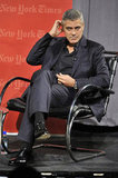 "George Clooney attended a NYT ""TimesTalk."""