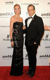 Heidi Klum and Kenneth Cole attended the 2012 amfAR gala in NYC.