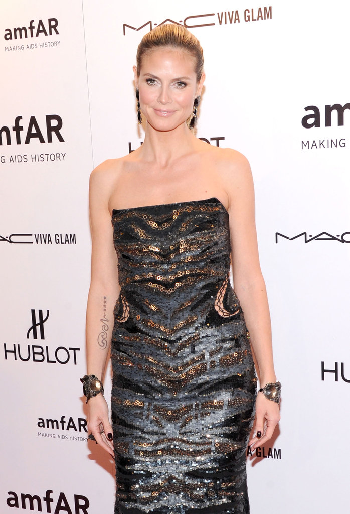 Heidi Klum posed at the 2012 amfAR gala in NYC.