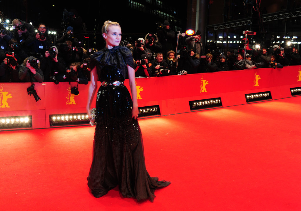 The red carpet cleared for Diane Kruger to make her entrance.