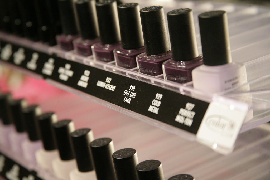 Color Club's Fumiko Kano created a custom-made purple just for Charlotte's show. Photo: Megan Holmes