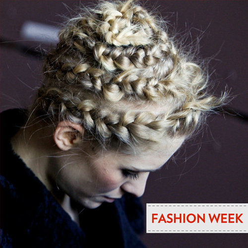 2012 Fall New York Fashion Week Beauty Trend: Messy Braids