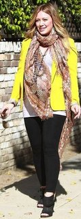 Hilary Duff Yellow Blazer