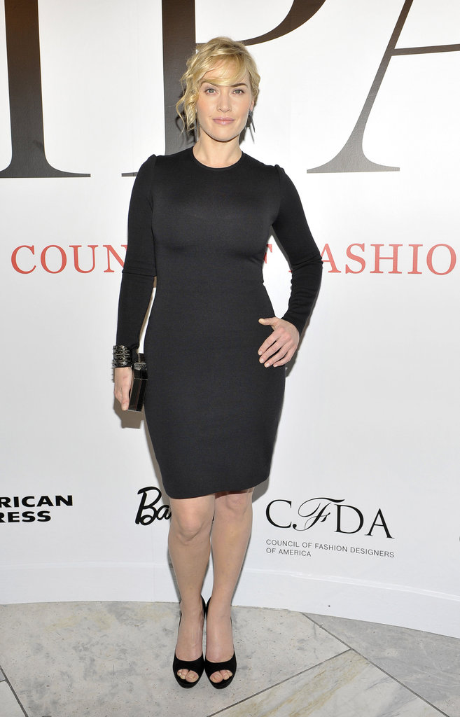 Kate Winslet at CFDA Exhibition.