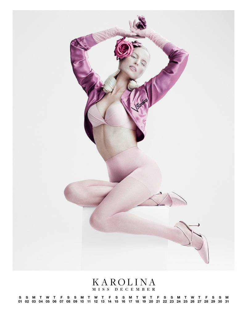 Karolina Kurkova posed for a Carine Roitfeld-edited spread in VMAN.