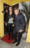 George Clooney and Stacy Keibler headed home.