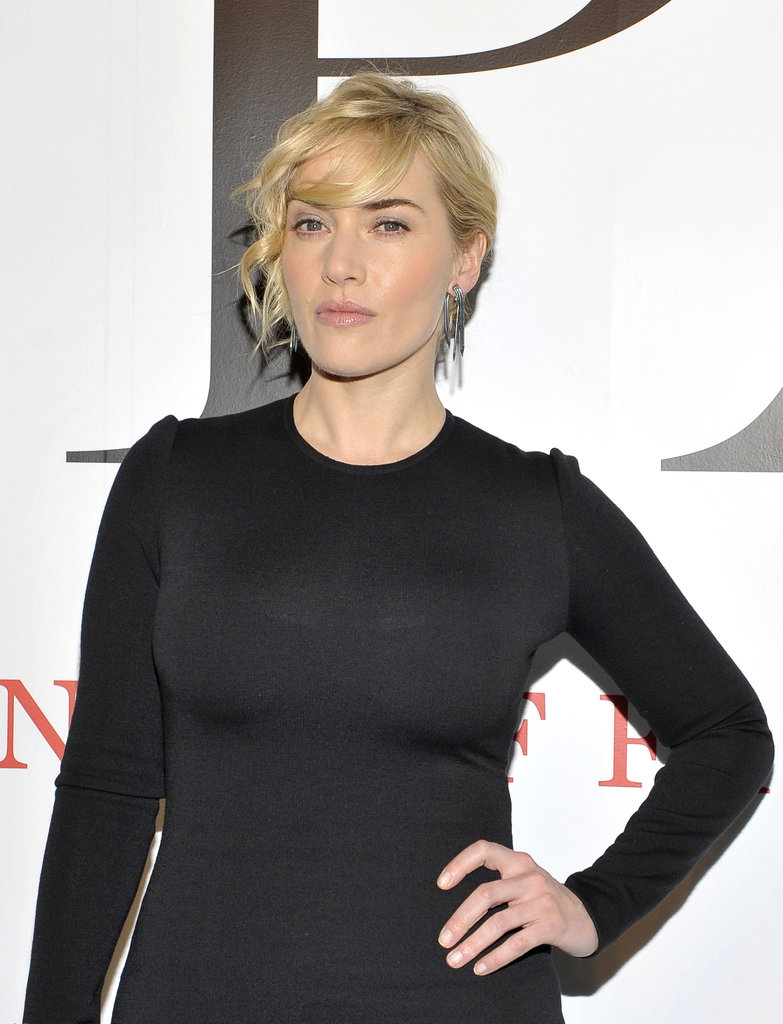 Kate Winslet in black.