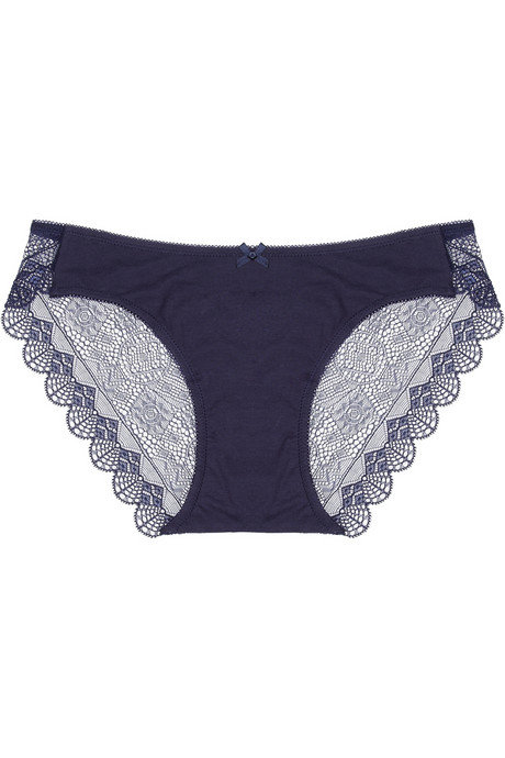 Adorable pair of undies in a pretty shade of blue, and we love the scalloped edges. Elle Macpherson Light of the Moon panties ($28)