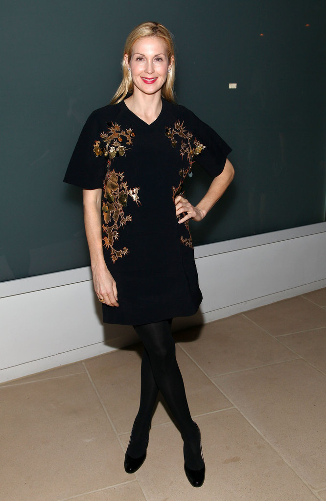 Kelly Rutherford slipped into a Cynthia Rowley Spring '12 dress for the designer's Fall show.