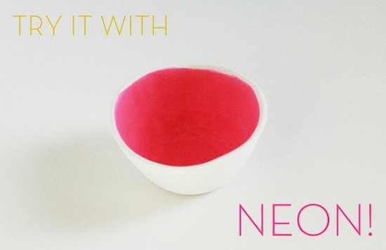 Fill this neon pink bowl with wrapped candies.