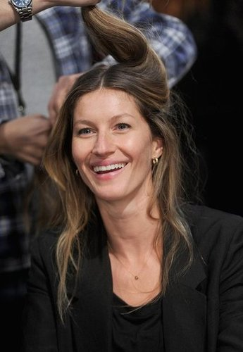 Gisele Bundchen backstage at Alexander Wang.