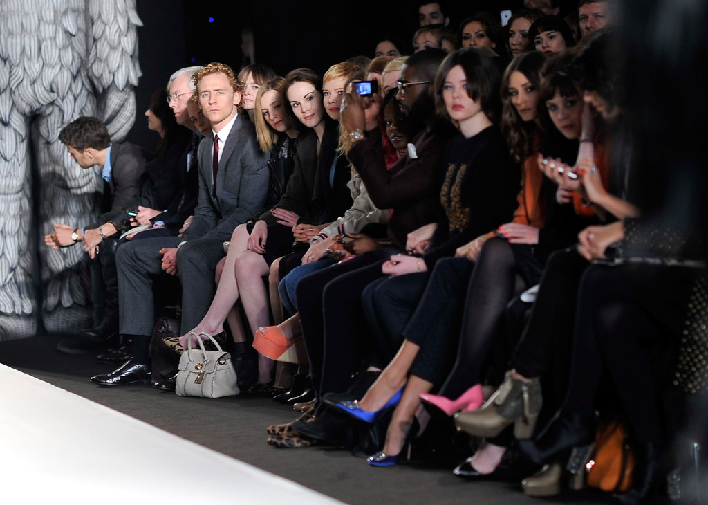 The front row at Mulberry's Fall 2012 show.