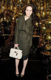 Michelle Dockery posed at Mulberry.