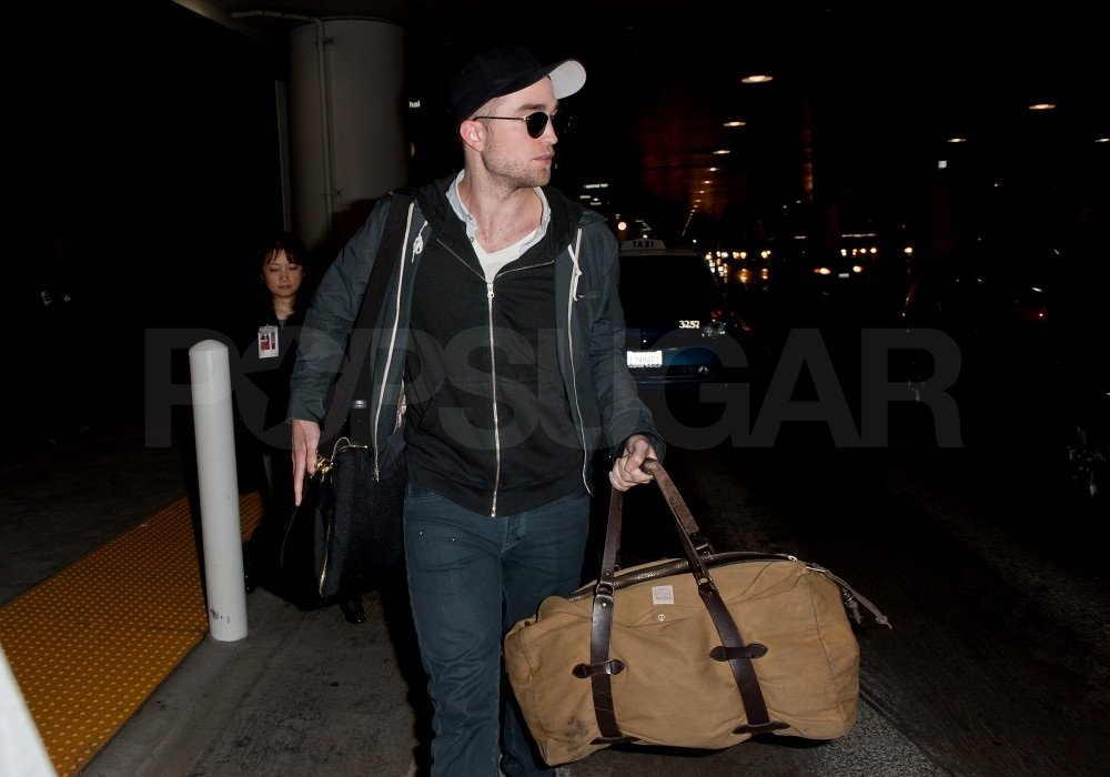 Rob waited for his ride outside LAX.