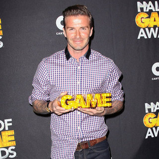 David Beckham at Cartoon Network Hall of Game Awards