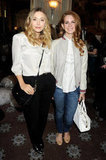 Lizzy Olsen and Lana Del Rey went backstage at Mulberry.