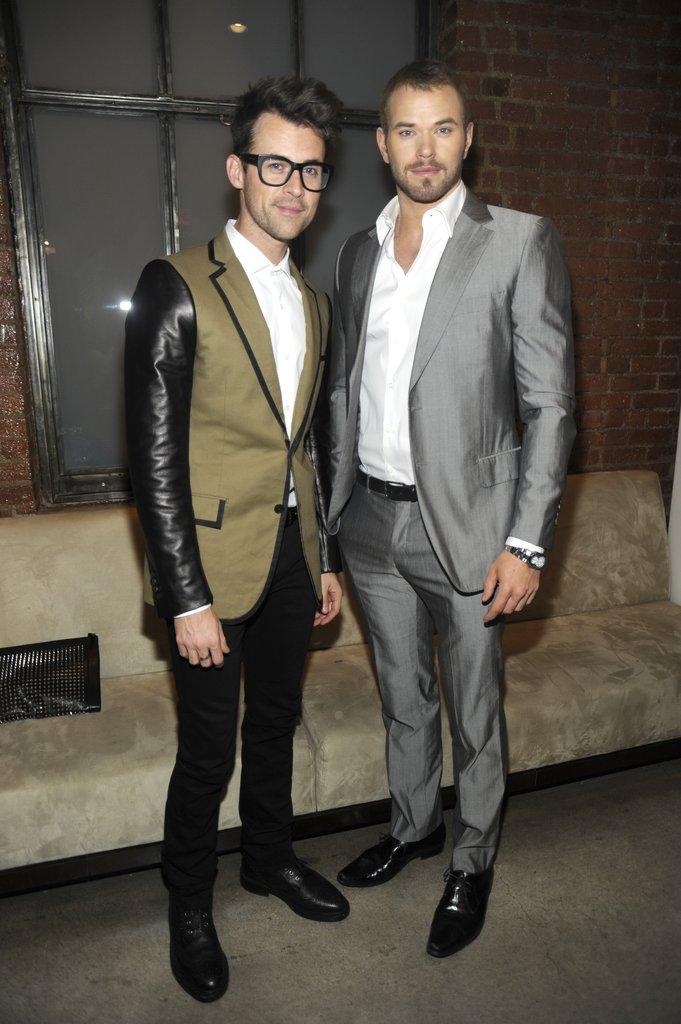 Brad Goreski joined Kellan Lutz at Simon Spurr.