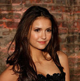 Nina Dobrev struck a pose at Christian Siriano.