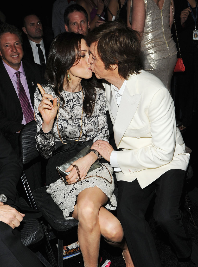 Paul McCartney kissed his number one fan, wife Nancy Shevell.