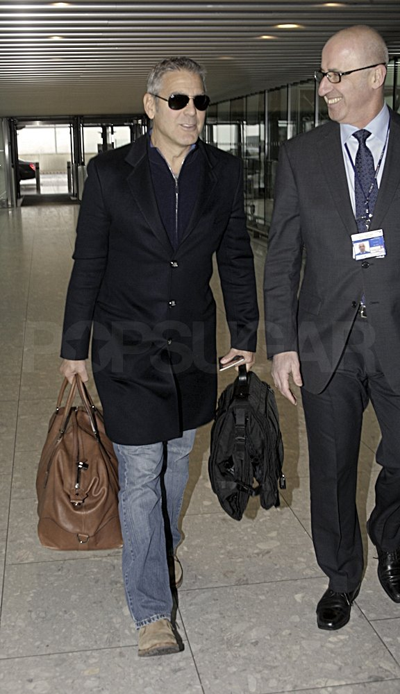 George Clooney walked through Heathrow.